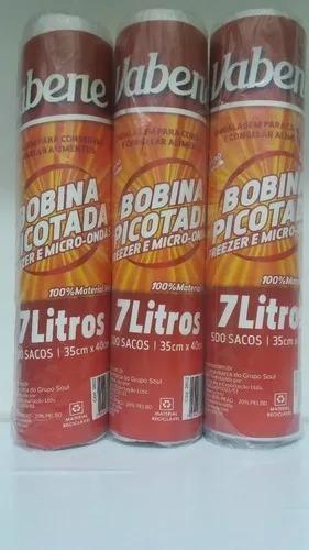 oferta! 3 unds bobina 7lts freezer microondas  35x40cm 1500u