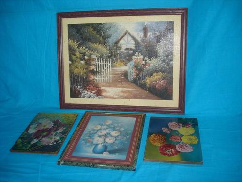 oferta 4 cuadros laminas enmarcadas decoracion (1139)