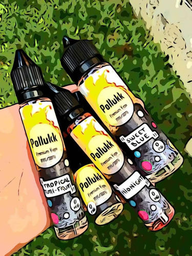 oferta 4x100ml c/u líquido para vapear pollukk premium