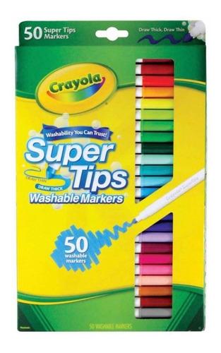 oferta 50 markers supertips marca crayola envío gratis