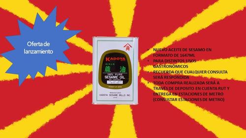 oferta aceite de sesamo