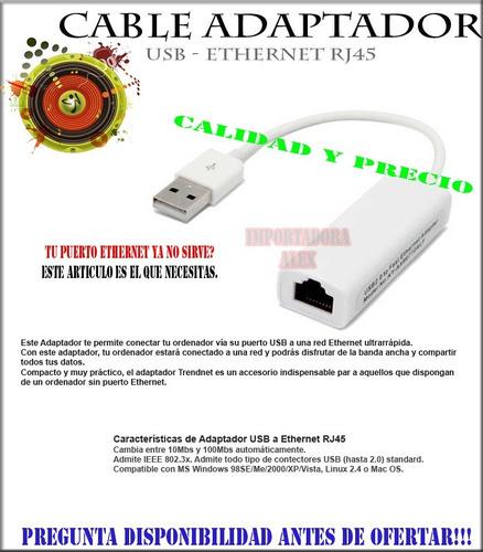 oferta!! adaptador usb 2.0 ethernet rj45 red lan calidad y p