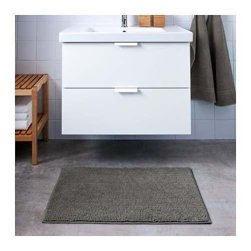 oferta alfombra baño antides 60x90 gris toftbo ikea suecia