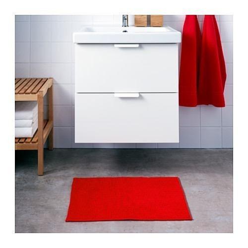 oferta alfombra baño antideslizante rojo badaren ikea suecia
