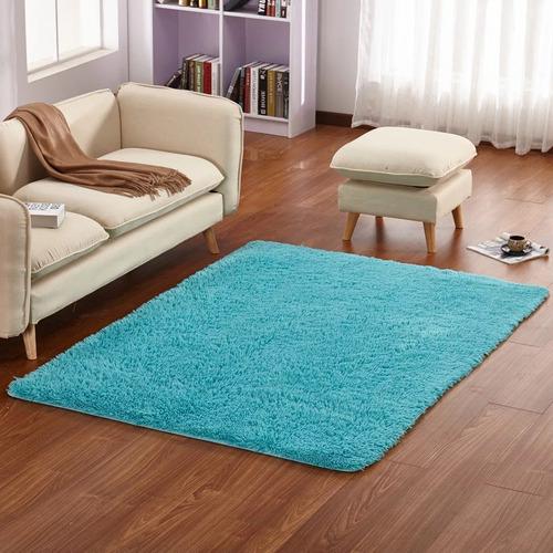 oferta! alfombra peluda 90×150cm super suave varios colores