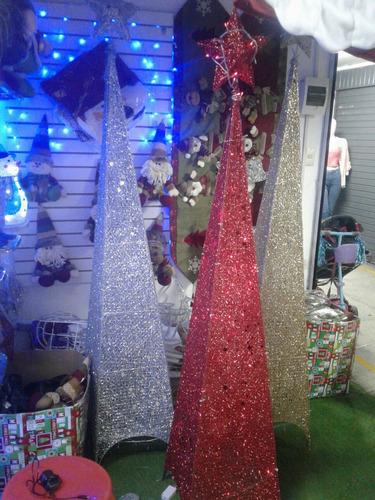 oferta arbol navideñotipo piramire 1.50 c/ luces !delivery!