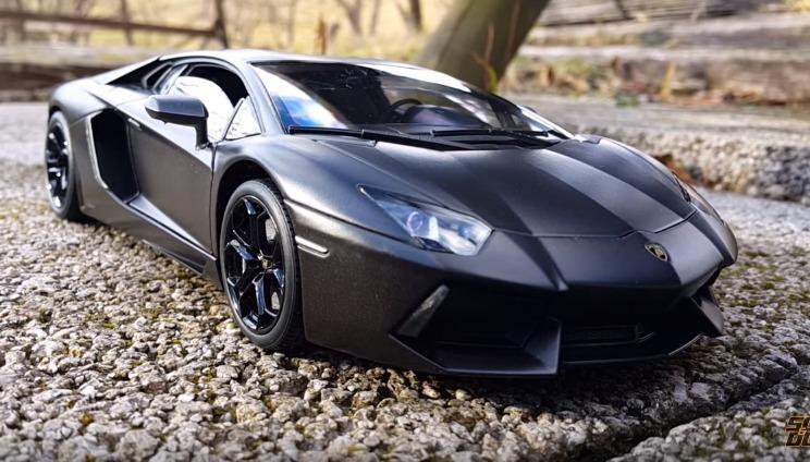 Oferta Auto Lamborghini Aventador Negro Mate Escala 1 18