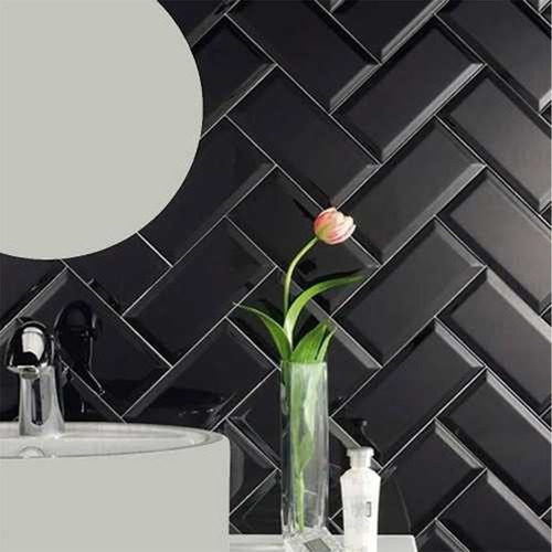 oferta azulejo brick 7.5x15 negro brillante - 1era subway