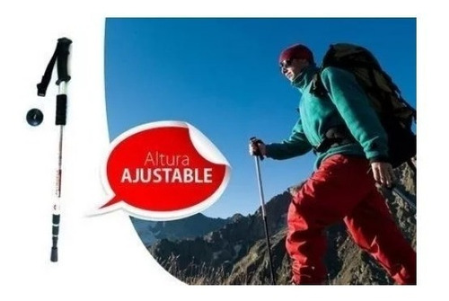 oferta! baston trekking tramo mango anti shock senderismo