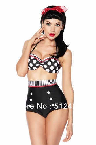 oferta bikini  pin up modelador vintage talla m