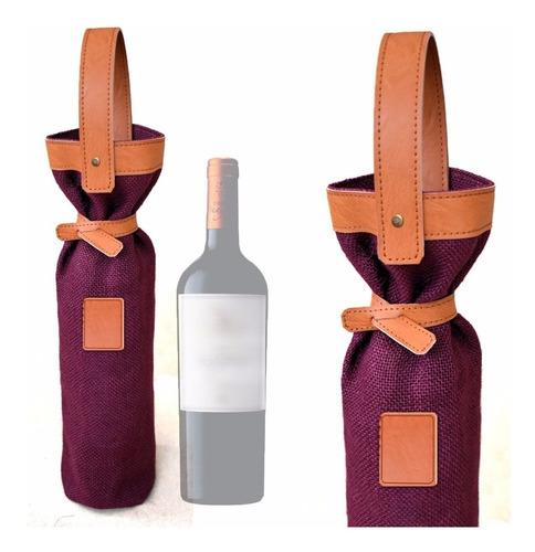 oferta bolsito souvenir yute para vino últimos.