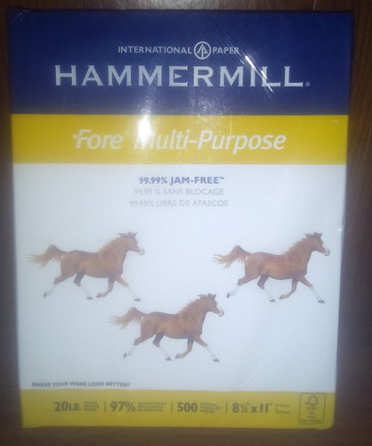oferta* bultos de papel carta marca hammermill (x10 resmas)