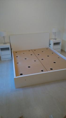 oferta cama dos plazas con 4 cajones + respaldo laqueado!!
