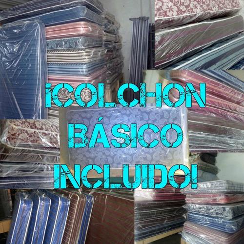 oferta! cama tapizada individual elige color/ con colchón