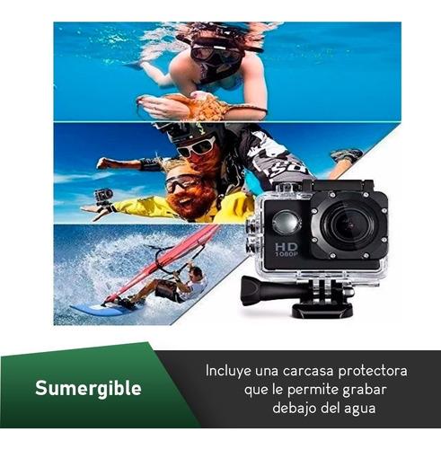 oferta! camara deportiva hd 1080p sumergible + garantia!