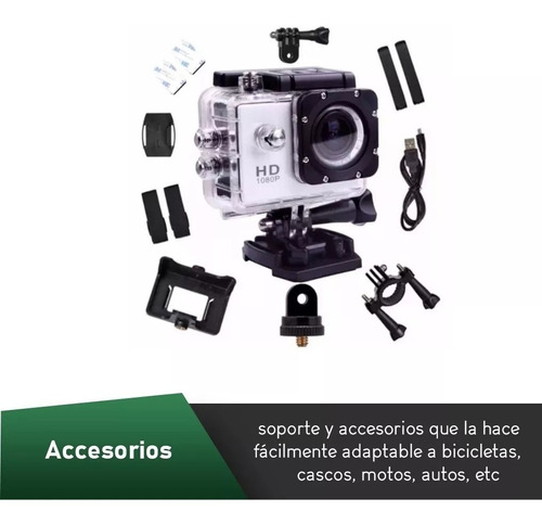 oferta camara deportiva sumergible full hd 1080p