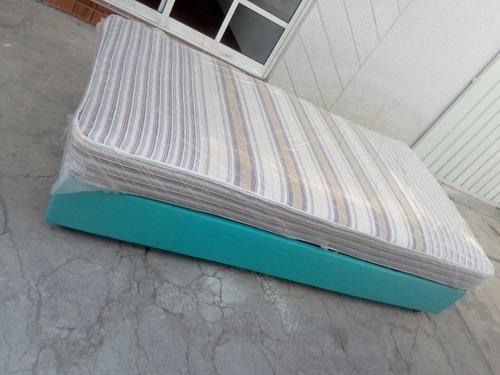 ¡oferta! camas tapizadas individuales de colores!!