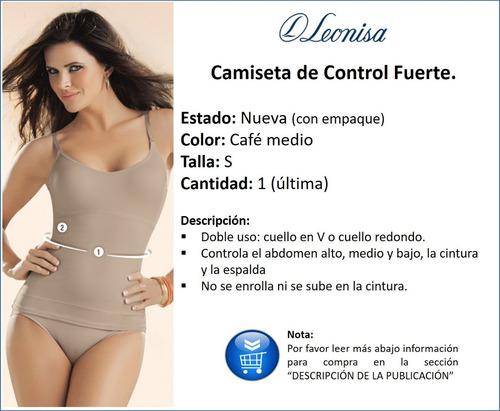 oferta!! camiseta faja de control leonisa nueva small