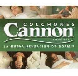 oferta!! cannon princess colchón y sommier ecocuero 1½ plaza