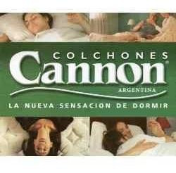 oferta!! cannon princess colchón y sommier ecocuero 1 plaza