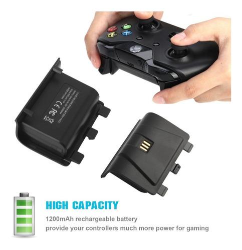 oferta! cargador controles para xbox con batería recargable