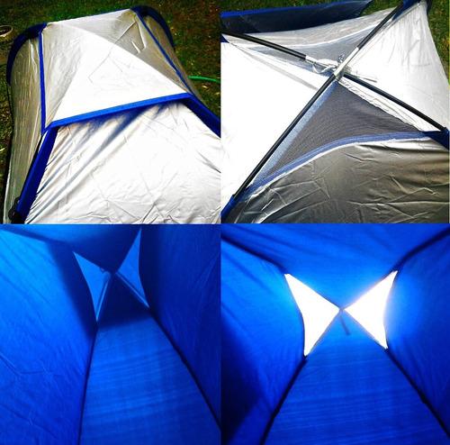 oferta carpa 2 iglu montaña aluminizada mas1 bolsa de dormir
