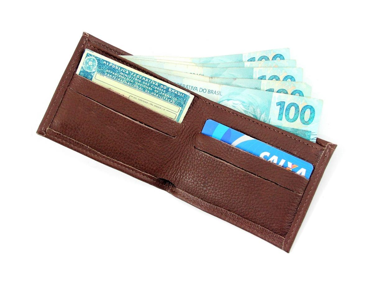 96e1589bd36 oferta carteira masculina couro legítimo marca grife. Carregando zoom.