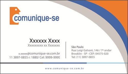 oferta cartão de visita qualidade fotográfica