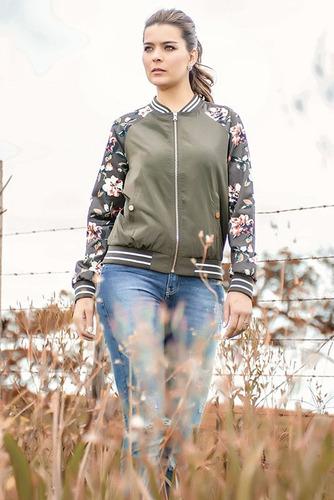 oferta casaco feminino jaqueta bomber floral aviador promoca