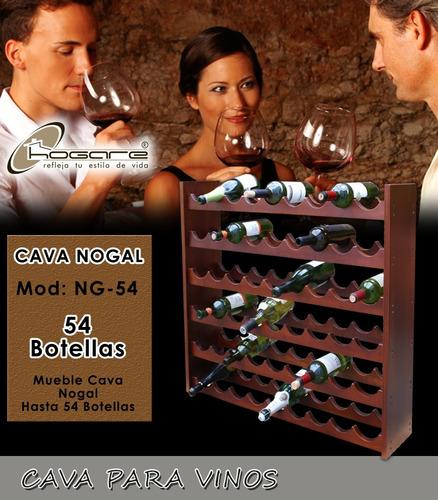 oferta!! cava 100% madera de 54 botellas hogare hlw