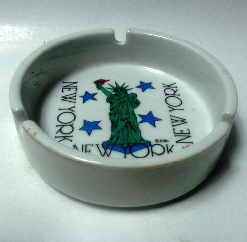 oferta cenicero blanco redondo souvenir new york