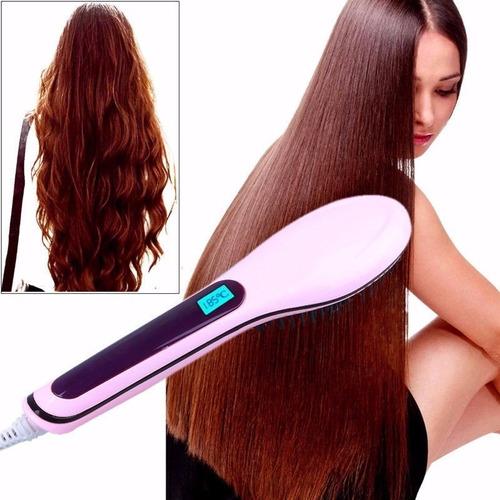 oferta! cepillo alisador plancha cabello electrico + rizador