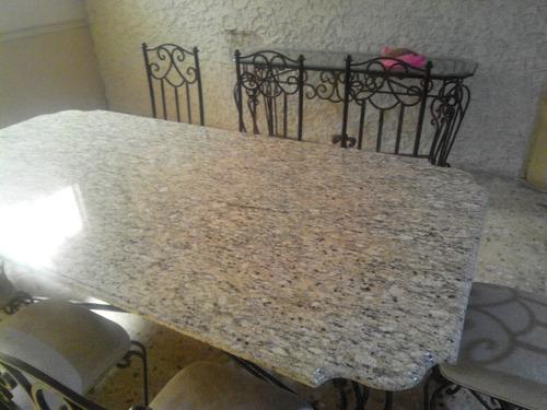 Oferta comedor de forja 8 sillas 17 en mercado for Donde venden granito