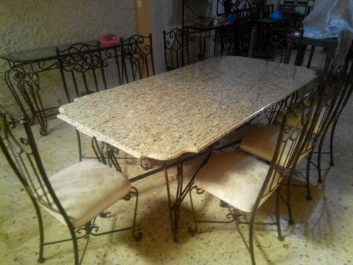Oferta comedor de forja 8 sillas 16 en mercado for Ofertas de sillas de comedor