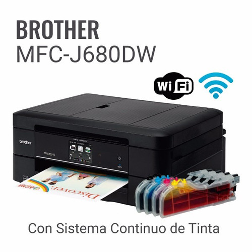 oferta con sistema continuo de tintas - brother mfc680dw