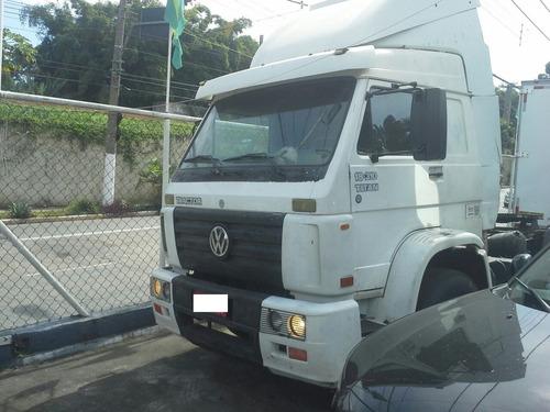 oferta conjunto cavalo vw 18310 motor novo+ carreta+ serviço