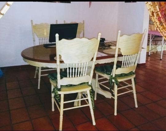 Oferta Conjunto La Mesa Comedor Con 8 Sillas Y Mueble Madera ...