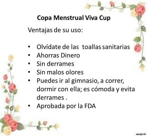 oferta. copa menstrual  + obsequio guardapolvo 7verds