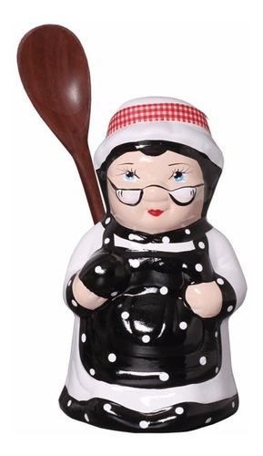 oferta!! cozinheira e porta colher p/ enfeite de cozinha