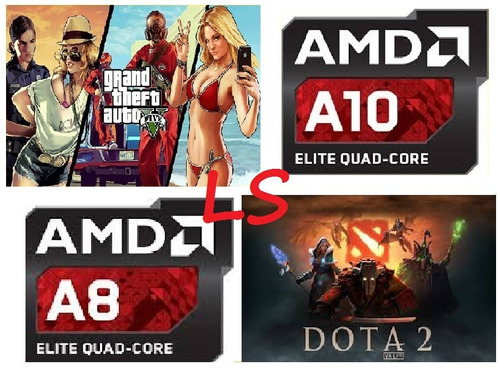 oferta cpu latin gamer a8 9600 ult. gen. a10  cabinera ddr4