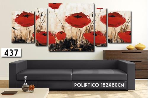oferta!! cuadro poliptico 215x80 - 182x80 decorativo moderno