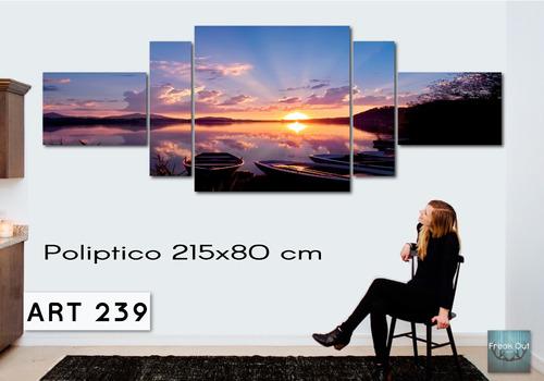oferta! cuadros tripticos modernos 215x80-180x80 decorativos