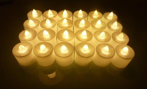 oferta de 24 velas de luz led ambar 2017