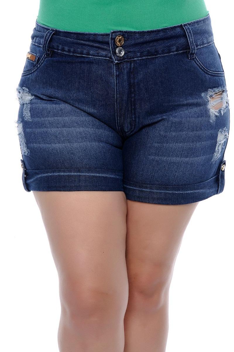 d08e0a25a Oferta De 7 Shorts Jeans Plus Size Feminina Bermuda Promoção - R ...