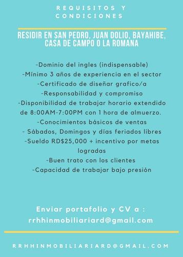 oferta de empleo diseñadora extranjera