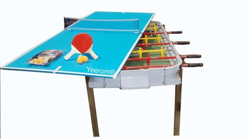 oferta dia del niño metegol fundicon + ping pong kit yeerom®