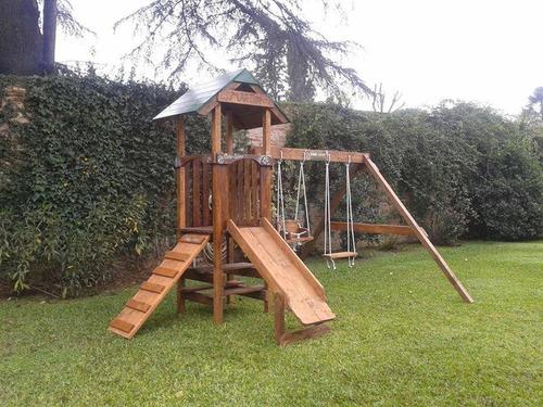 oferta día niño  mangrullo madera  hamacas madera tobogán