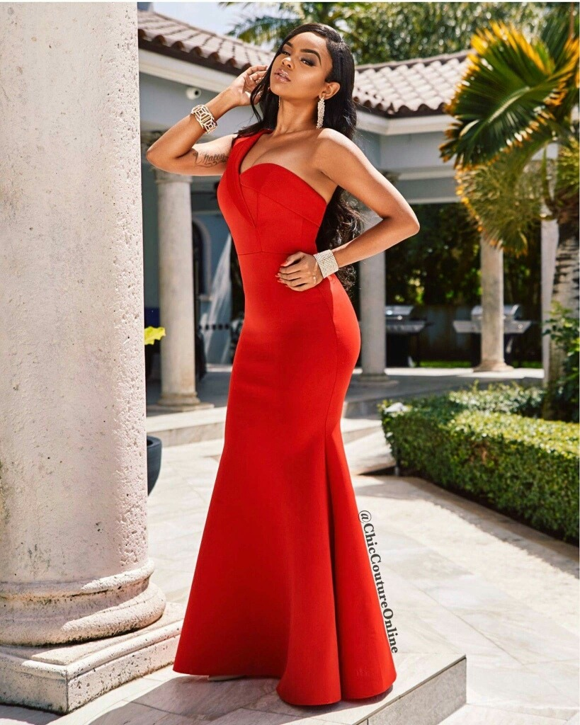 21c5bb5c35 oferta! elegante y moderno vestido de fiesta rojo una manga. Cargando zoom.