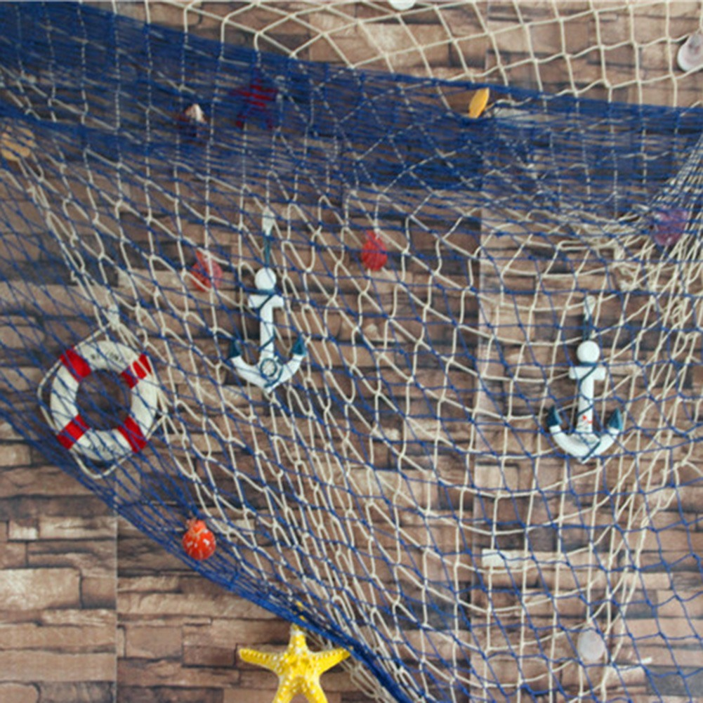 Oferta Especial Rede De Pesca Decorativa Em Estilo Mediterra R
