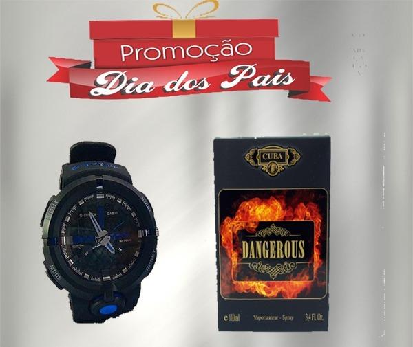 8c377f3919b Oferta Especial Relógio G-shock E Perfume Cuba Dangerous - R  119